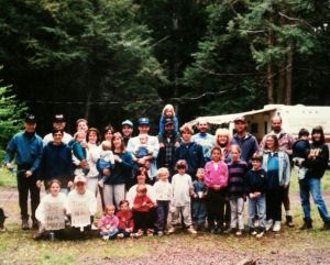 Memorial Day Weekend camping in 1996-ish. I'm in the center on my dad's shoulders.